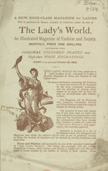 Advert for the Lady's World, periodical